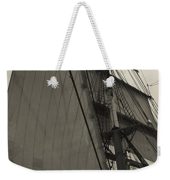 Suare And Triangle Black And White Sepia Weekender Tote Bag