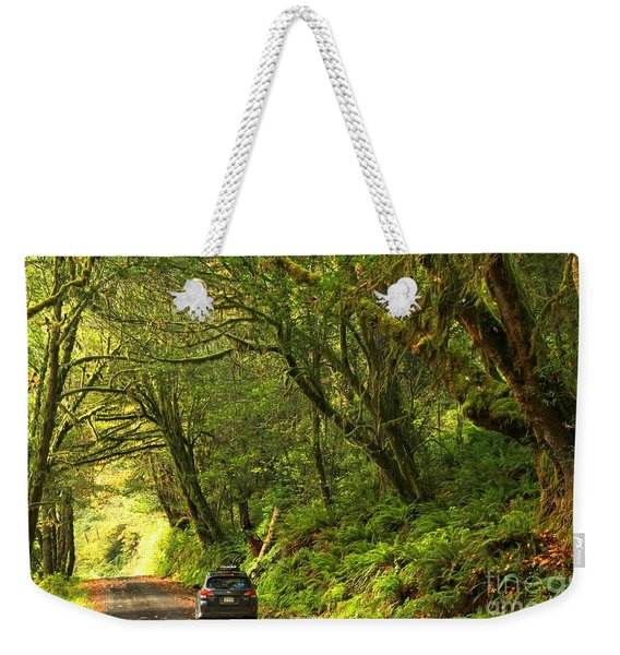 Subaru In The Rainforest Weekender Tote Bag