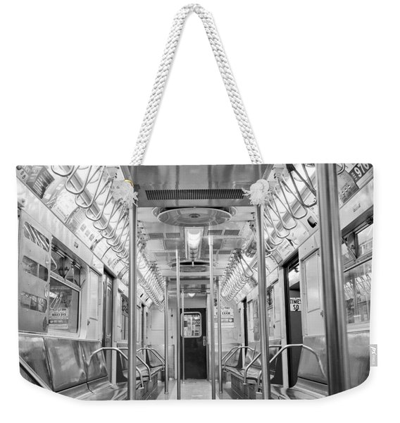 New York City - Subway Car Weekender Tote Bag