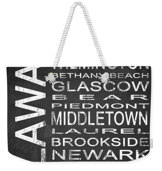 Subway Delaware State 1 Weekender Tote Bag