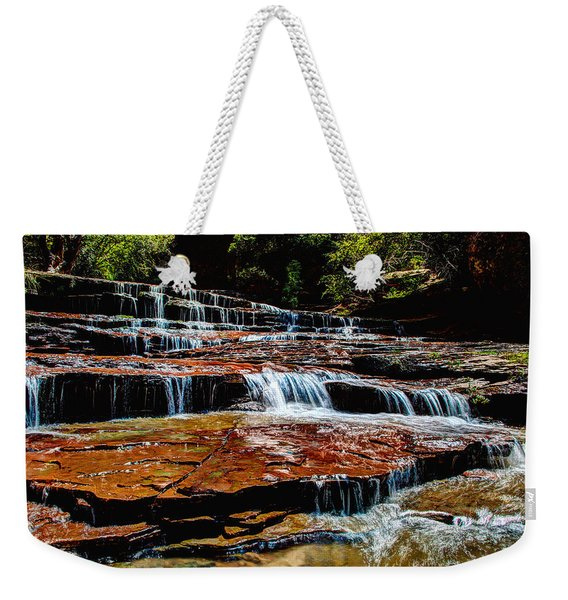 Subway Falls Weekender Tote Bag