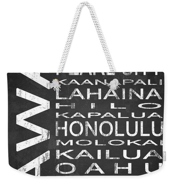 Subway Hawaii State 1 Weekender Tote Bag