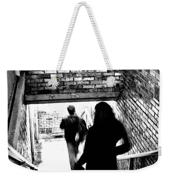 Subway Shadows Weekender Tote Bag