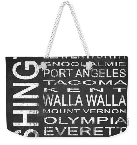 Subway Washington State 1 Weekender Tote Bag