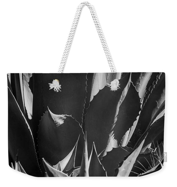 Succulent Black And White Weekender Tote Bag