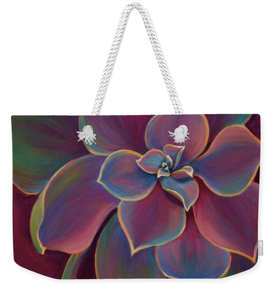 Weekender Tote Bag featuring the painting Succulent Delicacy by Sandi Whetzel