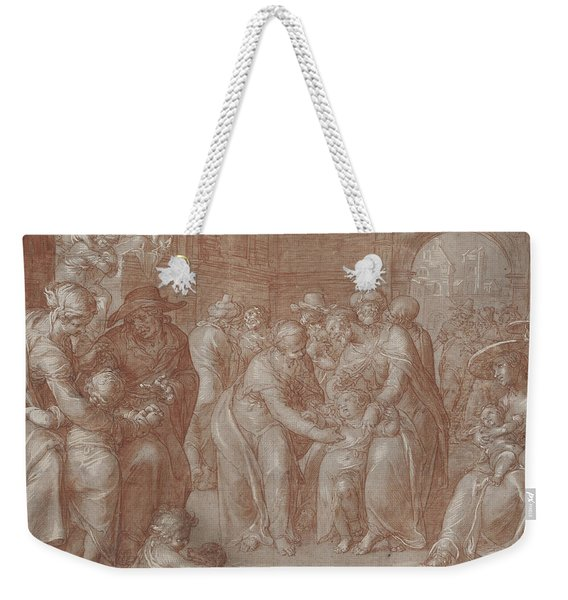Suffer The Little Children To Come Unto Me Weekender Tote Bag