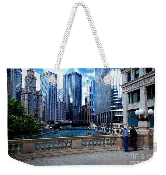 Summer Breeze On The Chicago River - Color Weekender Tote Bag