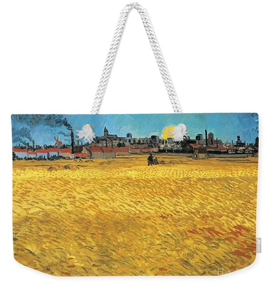 Summer Evening Wheat Field At Sunset Weekender Tote Bag