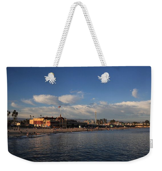 Summer Evenings In Santa Cruz Weekender Tote Bag