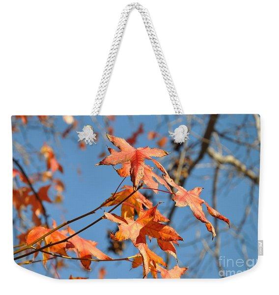 Summer Gold Leaf Weekender Tote Bag