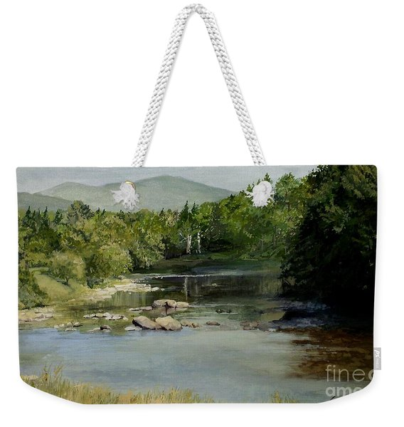 Summer On The River In Vermont Weekender Tote Bag
