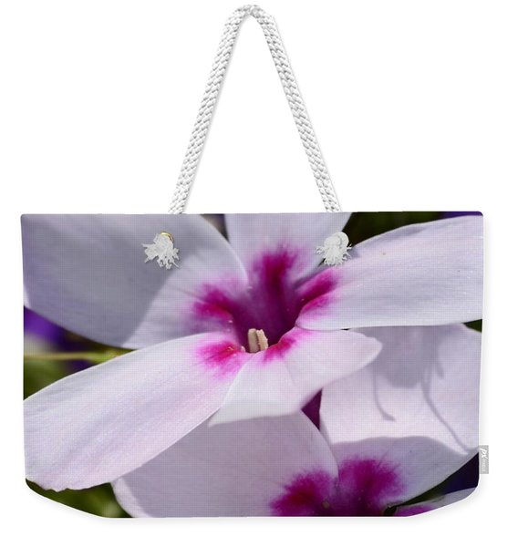 Summer Phlox Weekender Tote Bag