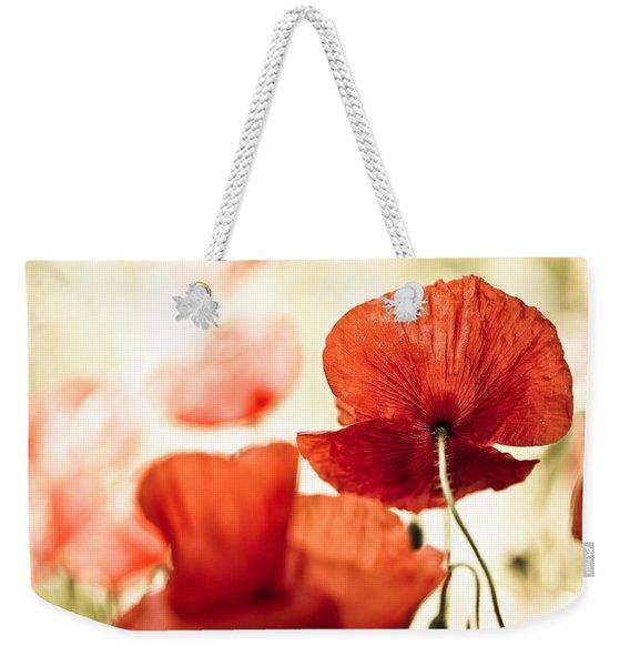Summer Poppy Weekender Tote Bag