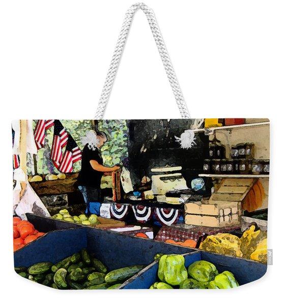 Summer Produce Weekender Tote Bag