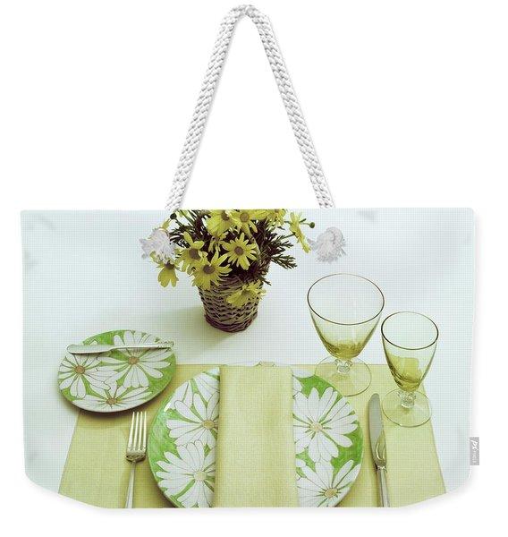 Summer Table Setting Weekender Tote Bag