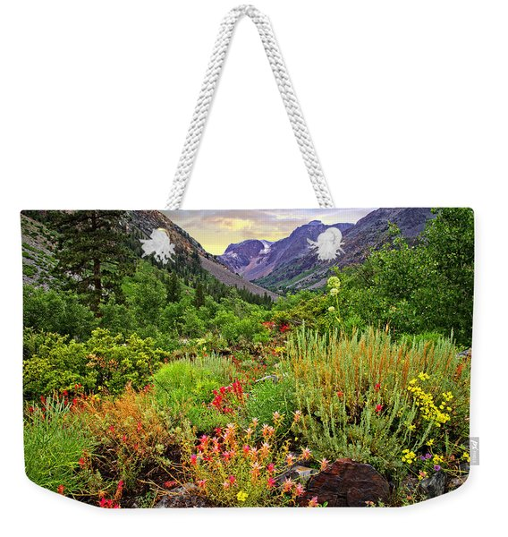 Summer Wildflowers In Lundy Canyon Weekender Tote Bag
