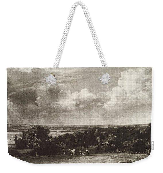 Summerland, Engraved By David Lucas 1802-81 Mezzotint Weekender Tote Bag