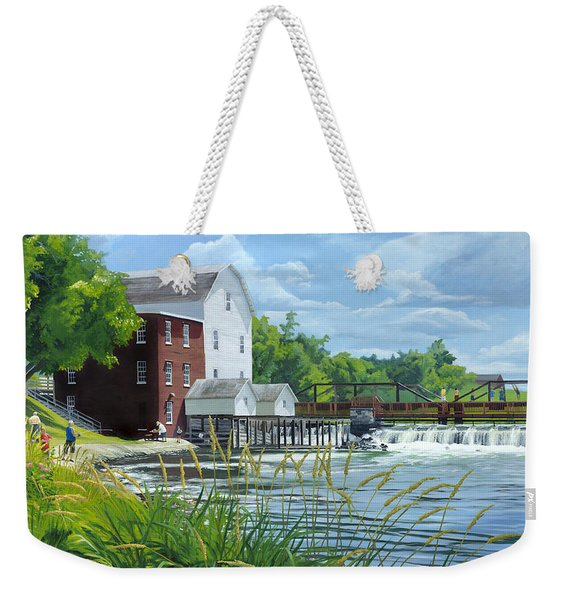 Summertime At The Old Mill Weekender Tote Bag