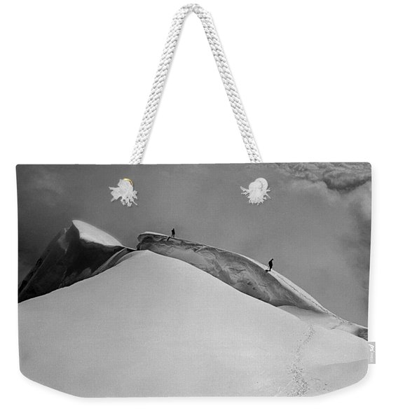 T-702412-bw-summit Of Mt. Robson Weekender Tote Bag