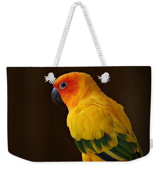 Sun Conure Parrot Weekender Tote Bag