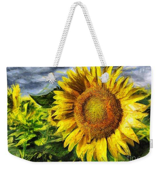 Sunflower Drawing  Weekender Tote Bag