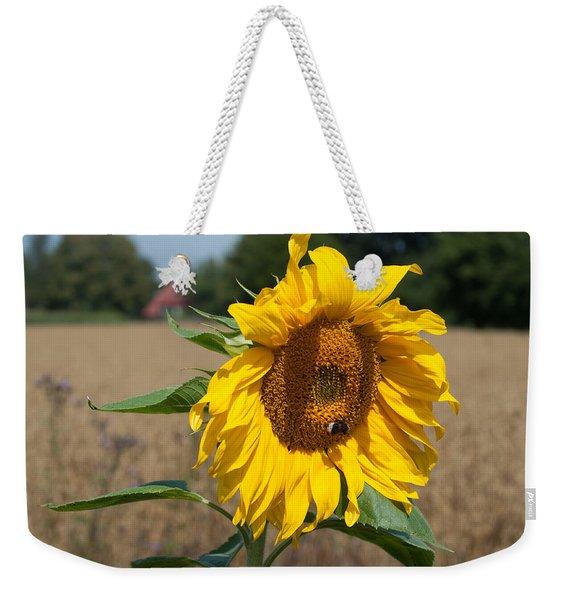 Sun Flower Fields Weekender Tote Bag