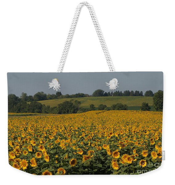 Sun Flower Sea Weekender Tote Bag