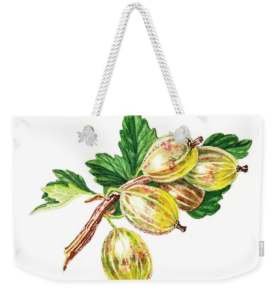 Sun Kissed Gooseberries Branch Weekender Tote Bag