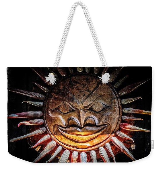 Sun Mask Weekender Tote Bag