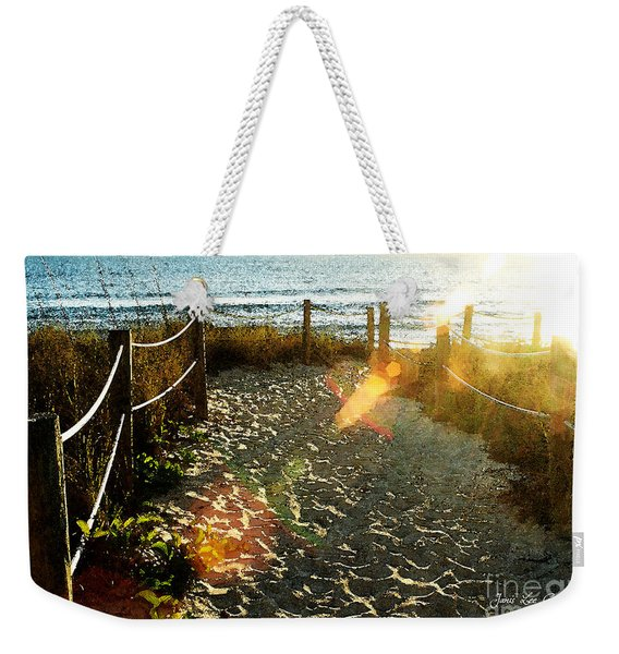Sun Ray Beach Path Weekender Tote Bag