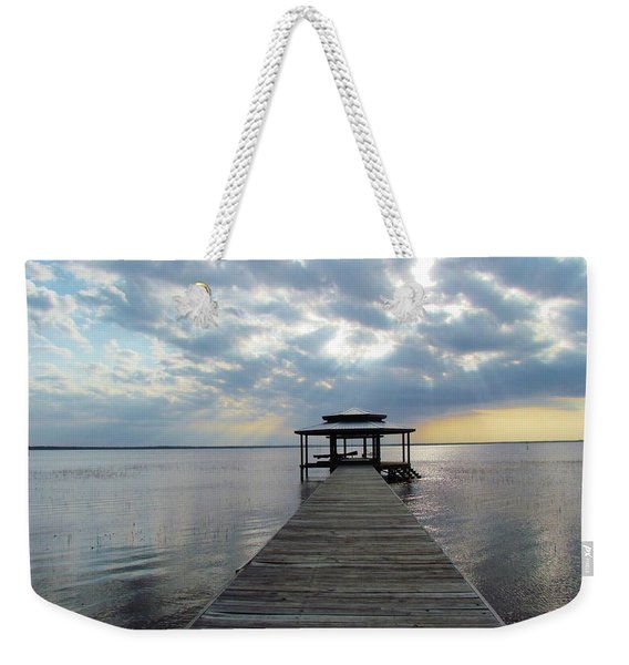 Sun Rays On The Lake Weekender Tote Bag