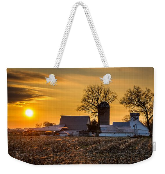 Sun Rise Over The Farm Weekender Tote Bag