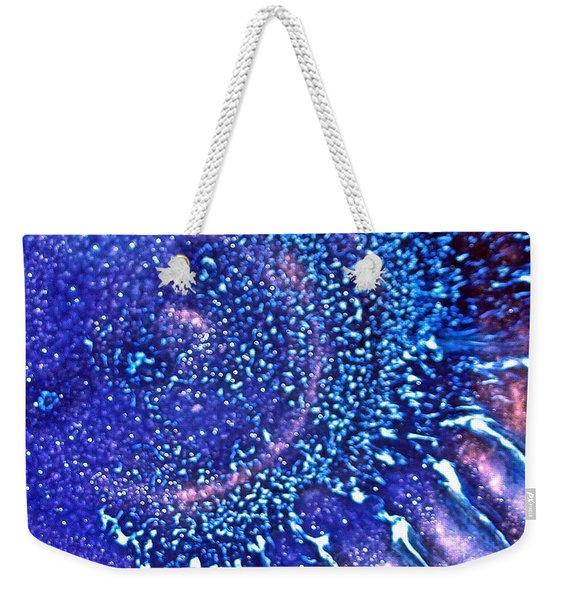 Sunburst Blue Weekender Tote Bag