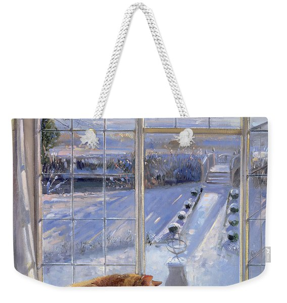 Sundial And Cat  Weekender Tote Bag