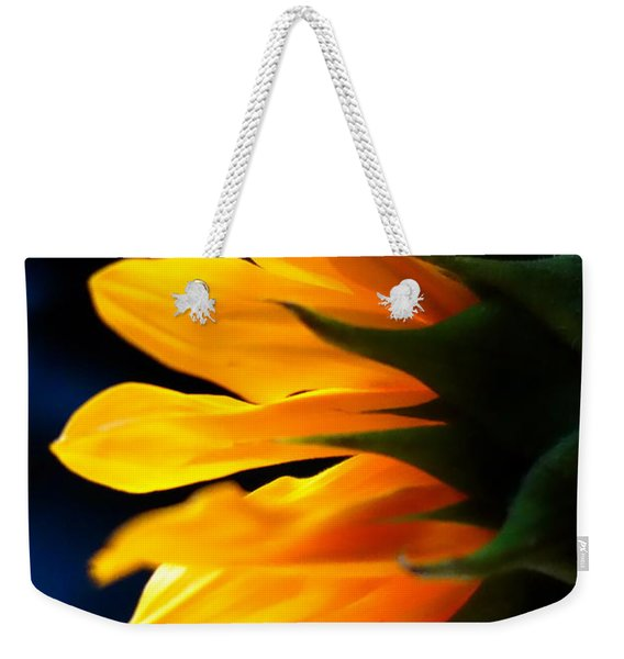 Weekender Tote Bag featuring the photograph Sunflower 2 by Jacqueline Athmann