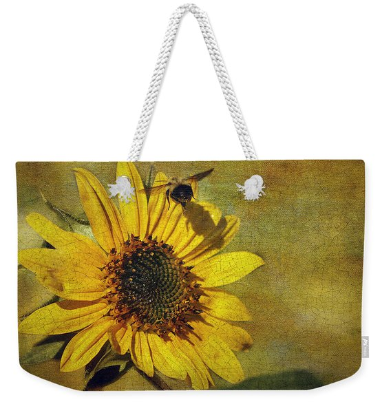 Sunflower And Bumble Bee Weekender Tote Bag