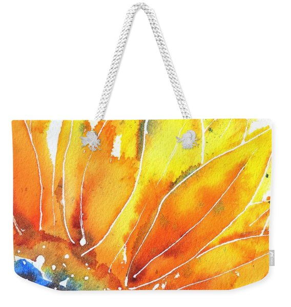 Sunflower Blue Orange And Yellow Weekender Tote Bag