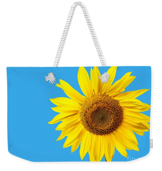 Sunflower Blue Sky Weekender Tote Bag