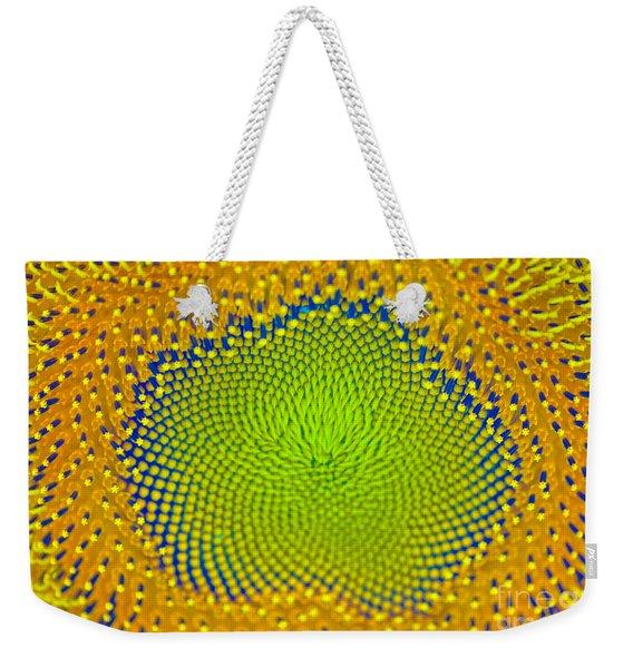 Sunflower Center Weekender Tote Bag