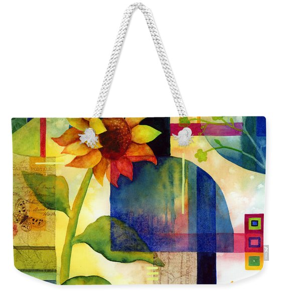Sunflower Collage Weekender Tote Bag