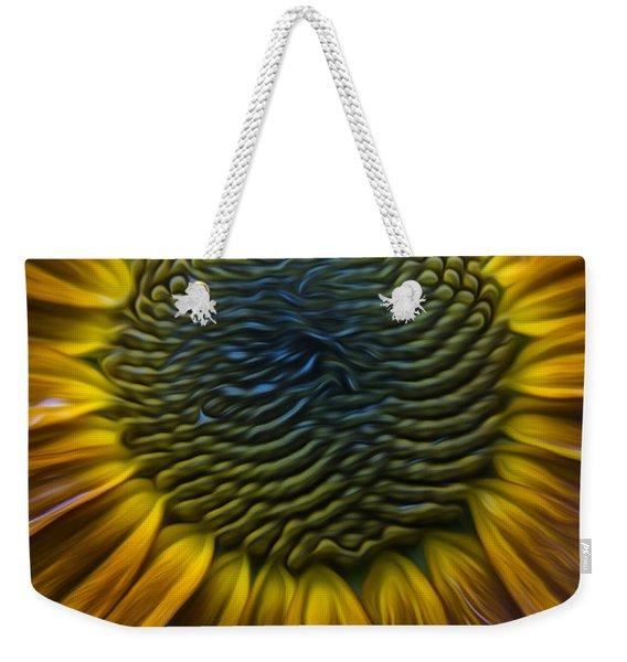 Sunflower In Rain Weekender Tote Bag
