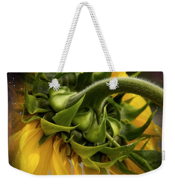 Sunflower In The Hubble Cosmos Weekender Tote Bag