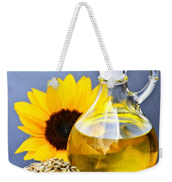 Sunflower Oil Bottle Weekender Tote Bag