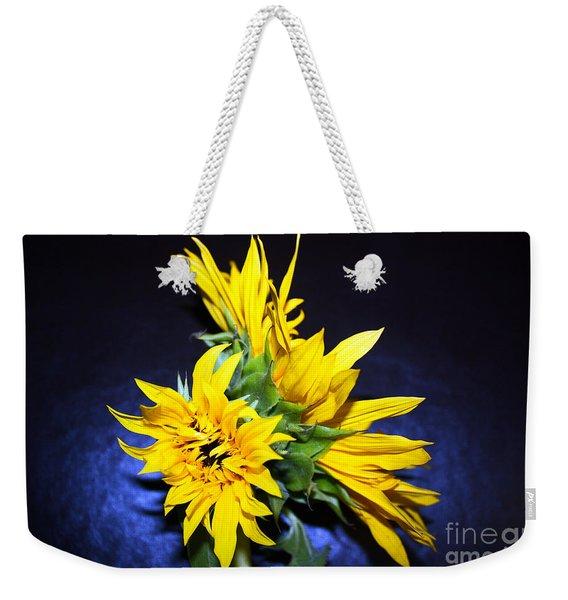 Sunflower Portrait Weekender Tote Bag