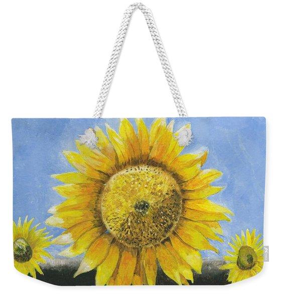 Sunflower Series One Weekender Tote Bag