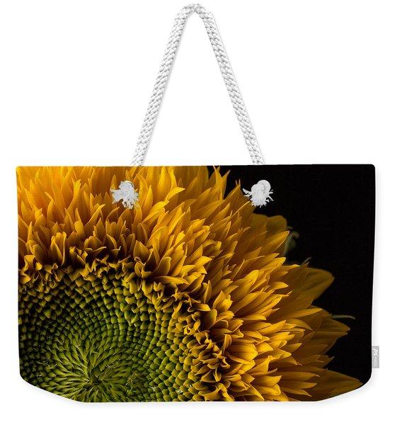 Sunflower Square Weekender Tote Bag