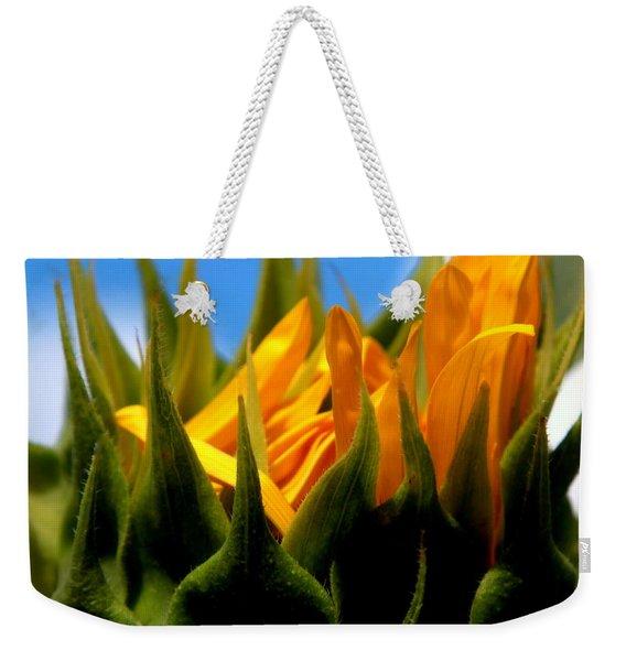 Sunflower Teardrop Weekender Tote Bag