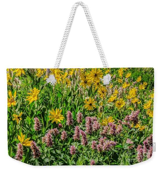 Sunflowers And Horsemint Weekender Tote Bag