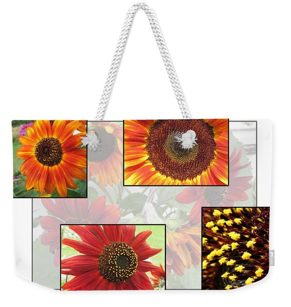Sunflowers From The Color Fashion Mix Weekender Tote Bag